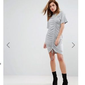 ASOS T-shirt dress with ruched detail